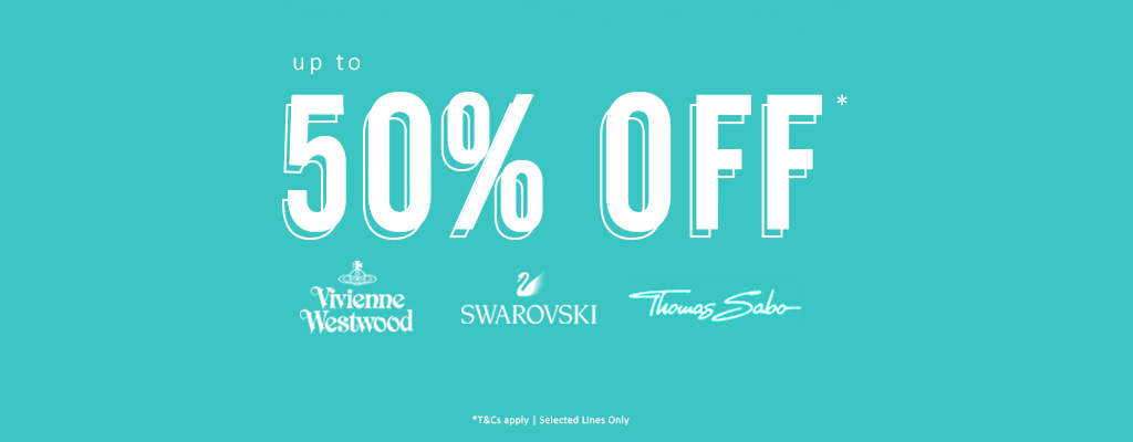 Up to 50% OFF Vivienne Westwood, Swarovski & Thomas Sabo