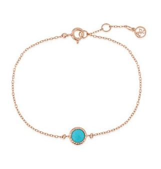 Argento December Turquoise Rose Gold Bracelet Layered