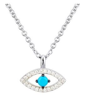 Argento Evil Eye Necklace Layer