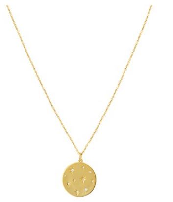 Argento Gold Crystal Coin Necklace