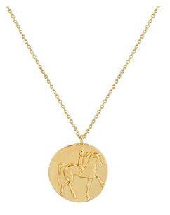 Argento Gold War Horse Coin Necklace Layered