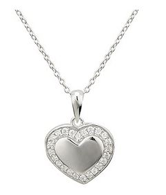 Argento Heart Engraving Necklace