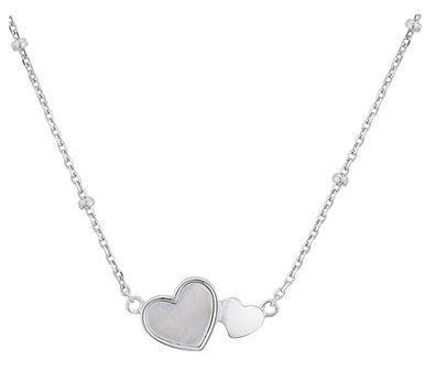 Dazzling Sterling Silver MOM Open Heart Orange November Birthstone Pendant Necklace