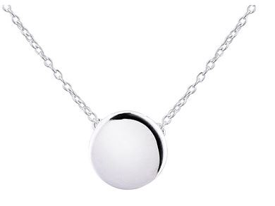 Argento Plain Circle Necklace Layer