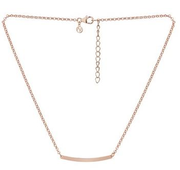 Argento Rose Gold Curved Bar Necklace Layered