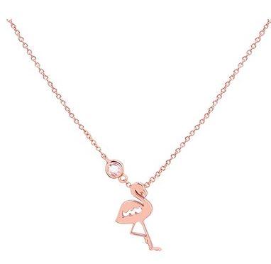 Argento Rose Gold Flamingo Necklace