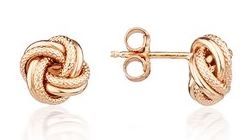 Argento Rose Gold Knot Earring