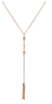 Argento Rose Gold Lariat Necklace Layered