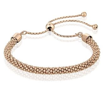 Argento Rose Gold Popcorn Friendship Bracelet Layered