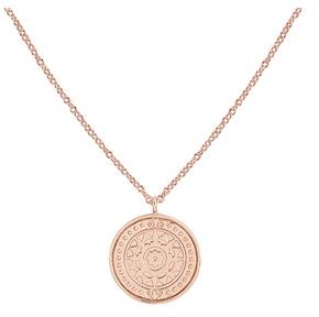 Argento Rose Gold Roman Sun Coin Necklace Layered