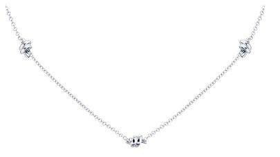 Argento Silver Knot Necklace Layer