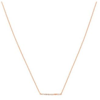 Argento Rose Gold Stellar Bar Necklace Layered