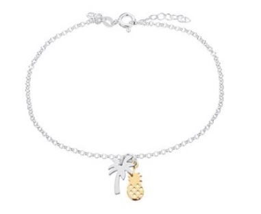 Argento Tropical Pineapple Anklet