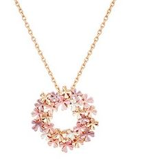 August Woods Blush Floral Circle Necklace