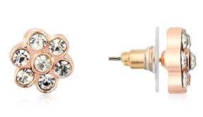 August Woods Rose Gold CZ Flower Earring