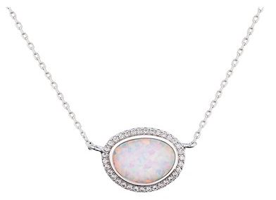 August Woods CZ Opal Necklace Layer