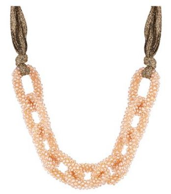 August Woods Champagne Fabric Necklace