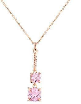 August Woods Pink CZ Drop Necklace