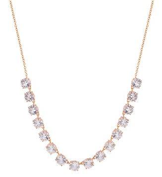 August Woods Rose Gold CZ Drop Necklace