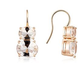August Woods Clear Rose Gold CZ Earrings