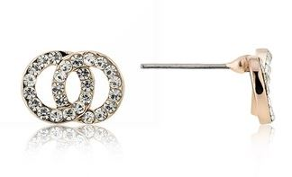 August Woods Rose Gold CZ Link Studs