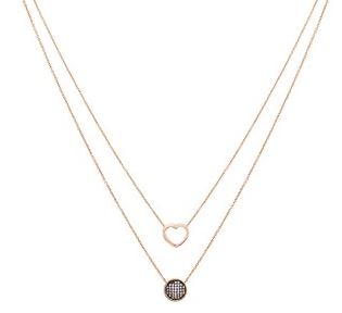 August Woods Rose Gold Heart Layer Necklace