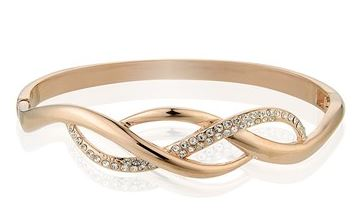 August Woods Rose Gold Plaited Bangle