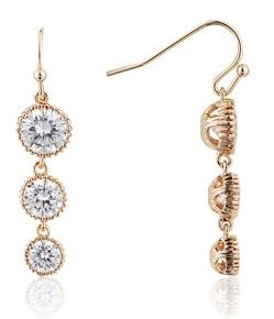August Woods Rose Gold Clear Drop Earrings