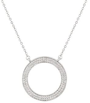 August Woods Silver CZ Circle Necklace