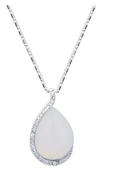 August Woods Silver Opal Teardrop Necklace Christmas Mum