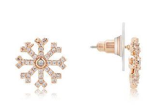 August Woods Snowflake Earrings Christmas