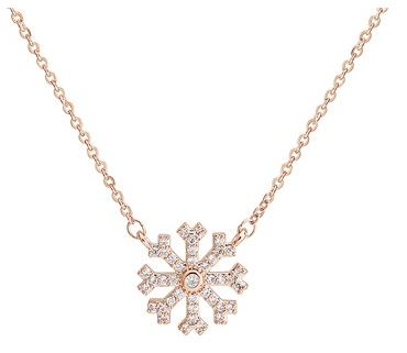 August Woods Snowflake Necklace Christmas