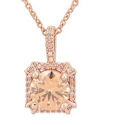 August Woods Square Champagne Crystal Necklace