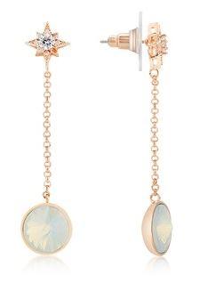 August Woods Star Opal Rose Gold Earrings Cocktail Argento Belfast