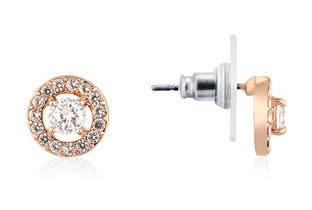 August Woods Rose Gold Halo Studs