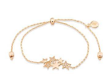 Dirty Ruby Gold Crystal Star Pull Bracelet