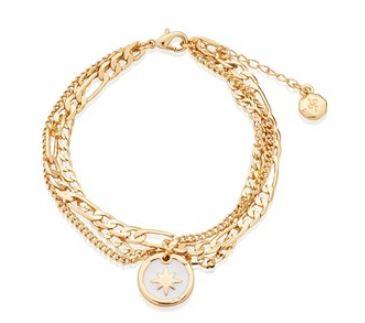 Dirty Ruby Gold North Star Bracelet