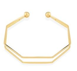 Dirty Ruby Gold Abstract Bangle