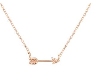 Dirty Ruby Rose Gold Arrow Necklace Layer
