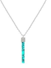 Dirty Ruby Turquoise Drop Necklace Layer