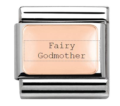 Fairy Godmother Family Engraved Nomination Charm