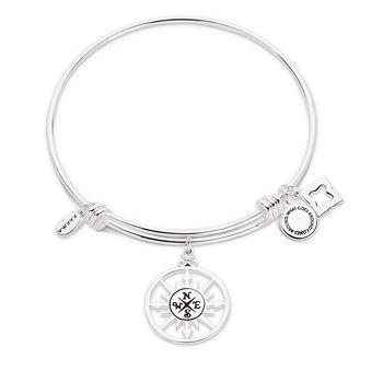 Karma Silver Compass Bangle