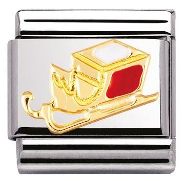 Nomination Christmas Sleigh Charm argento