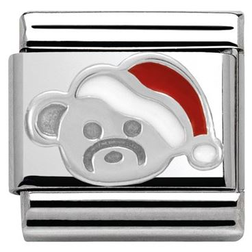 Nomination Christmas Teddy Charm argento