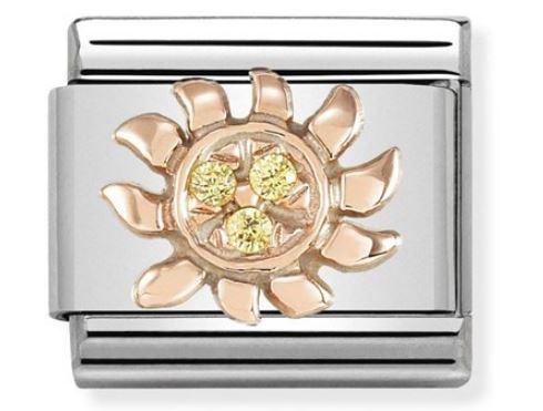 Nomination Rose Gold Sun Charm