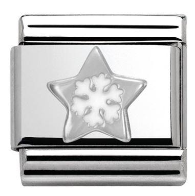 Nomination Star Snowflake Christmas Charm argento