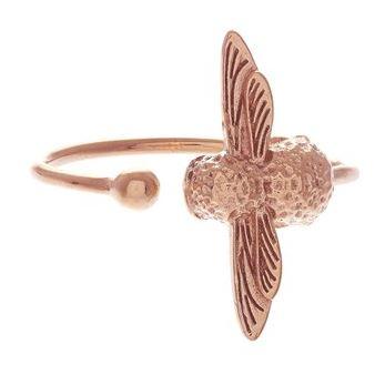 Olivia Burton Rose Gold Bee ring