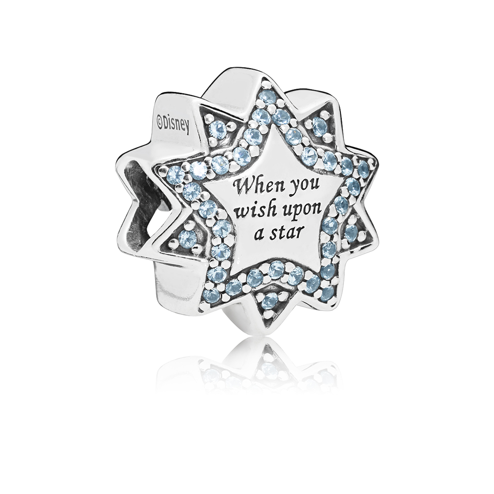 PANDORA Disney Pinnochio Wish Star Charm Argento