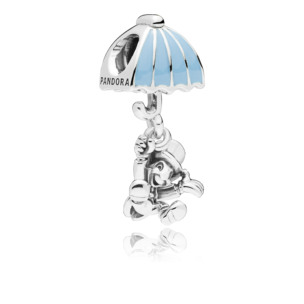 PANDORA Disney Pinnochio Jiminy Cricket Charm Argento