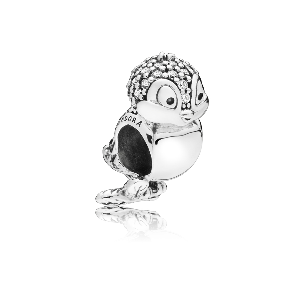 PANDORA Disney Snow White Bird Charm Argento